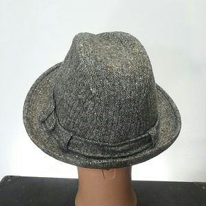 Knox Accessories - 6 3 4 Knox Fedora Trilby Hat Tweed Wool Gangster 4b7b3f46af3f